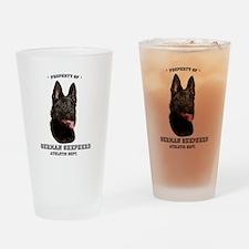German Shepherd Athletics Drinking Glass