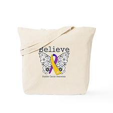 Believe Bladder Cancer Tote Bag