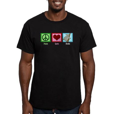 Peace Love Koala Men's Fitted T-Shirt (dark)