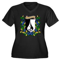 Dairine's Women's Plus Size V-Neck Dark T-Shirt