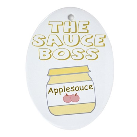 The Sauce Boss Baby Jar Ornament (Oval)