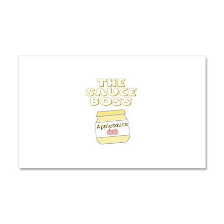 The Sauce Boss Baby Jar Car Magnet 20 x 12