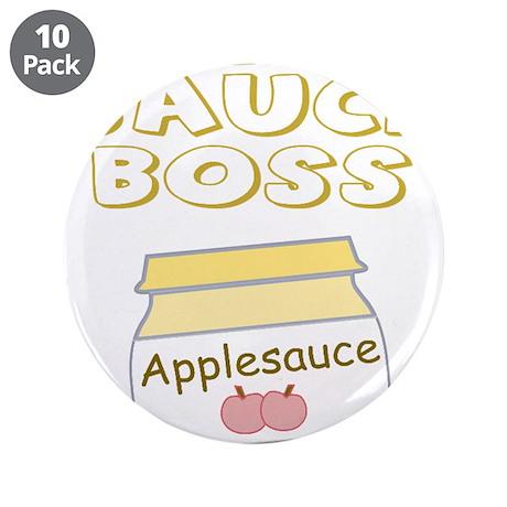"The Sauce Boss Baby Jar 3.5"" Button (10 pack)"