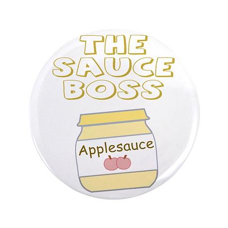 """The Sauce Boss Baby Jar 3.5"""" Button"""
