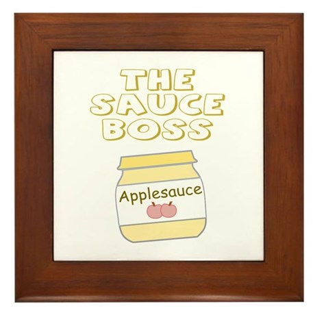 The Sauce Boss Baby Jar Framed Tile