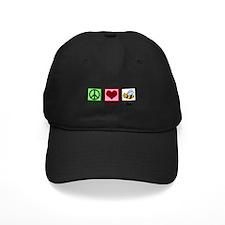Peace Love Bees Baseball Hat
