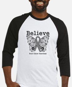 Believe Brain Cancer Baseball Jersey