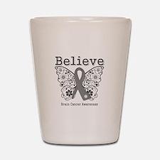 Believe Brain Cancer Shot Glass