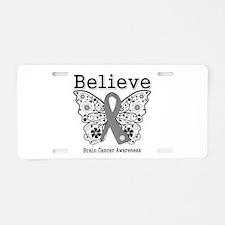 Believe Brain Cancer Aluminum License Plate