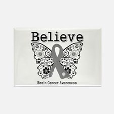 Believe Brain Cancer Rectangle Magnet