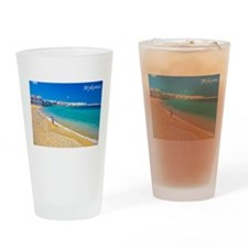Cute Greek islands Drinking Glass