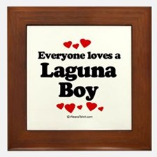 Everyone loves a Laguna Boy - Framed Tile
