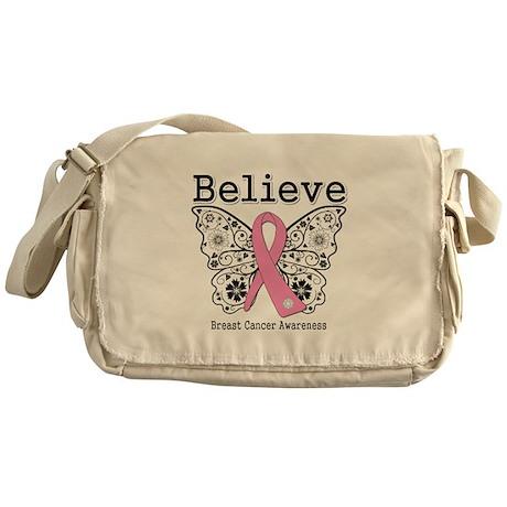 Believe Breast Cancer Messenger Bag