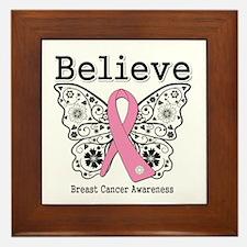 Believe Breast Cancer Framed Tile