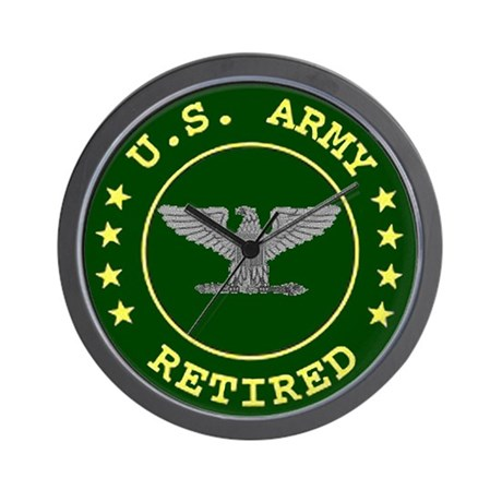 Retired Army Colonel Wall Clock