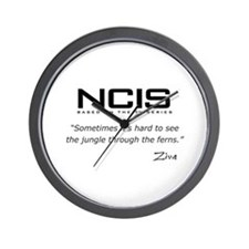 NCIS Ziva David Jungle Quote Wall Clock