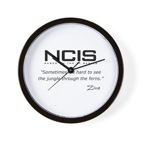 NCIS Ziva David Jungle Quote Wall Clock