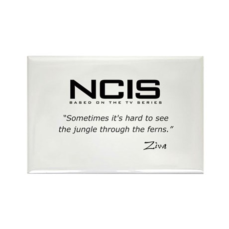 NCIS Ziva David Jungle Quote Rectangle Magnet