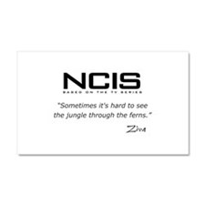NCIS Ziva David Jungle Quote Car Magnet 20 x 12