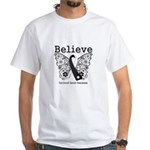 Believe - Carcinoid Cancer White T-Shirt