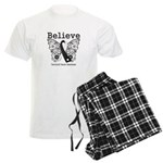 Believe - Carcinoid Cancer Men's Light Pajamas