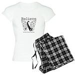 Believe - Carcinoid Cancer Women's Light Pajamas