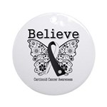 Believe - Carcinoid Cancer Ornament (Round)