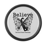Believe - Carcinoid Cancer Large Wall Clock