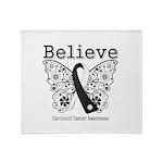 Believe - Carcinoid Cancer Throw Blanket