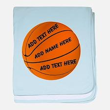 Basketball baby blanket