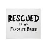 Favorite Breed Throw Blanket