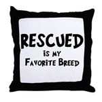 Favorite Breed Throw Pillow