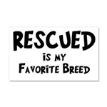 Favorite Breed Car Magnet 20 x 12
