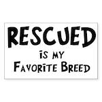 Favorite Breed Sticker (Rectangle 50 pk)