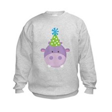 Birthday Hippo Sweatshirt