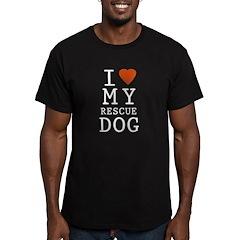 I Heart Men's Fitted T-Shirt (dark)