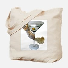 Martini Squirrel Tote Bag