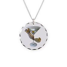 Martini Squirrel Necklace