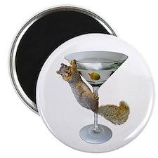 Martini Squirrel Magnet