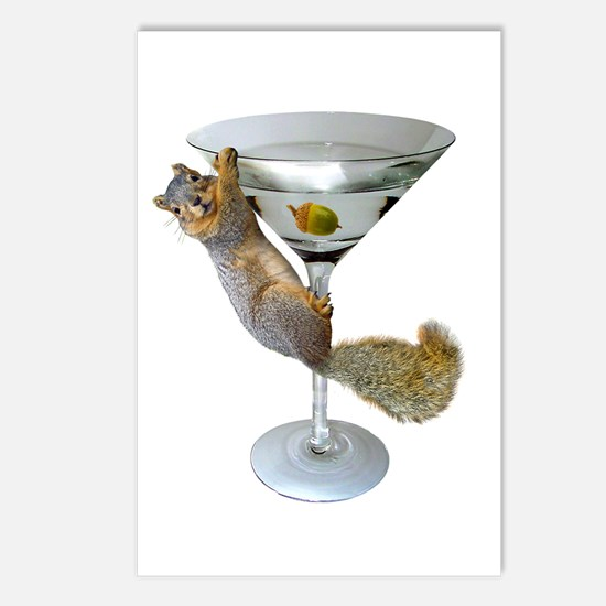 Martini Squirrel Postcards (Package of 8)