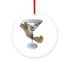Martini Squirrel Ornament (Round)