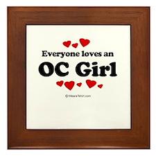 Everyone loves an OC Girl - Framed Tile
