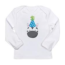 Birthday Zebra Long Sleeve Infant T-Shirt