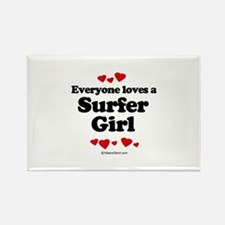 Everyone loves a surfer girl - Rectangle Magnet