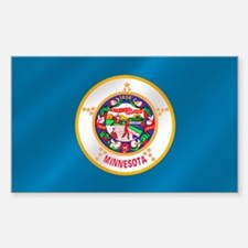 Minnesota Flag Sticker (Rectangle)