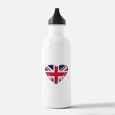 Heart shaped Union Jack Water Bottle