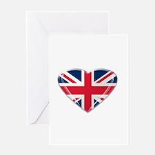 Heart shaped Union Jack Greeting Card