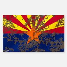 Arizona Grunge Flag Decal
