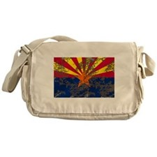 Arizona Grunge Flag Messenger Bag