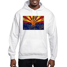 Arizona Grunge Flag Hoodie Sweatshirt